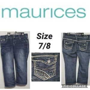 Maurices Capri Size 7/8 Bling